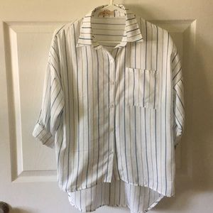 Women's stripped blouse
